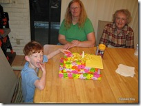 5th birthday with Grandma & Grandpa