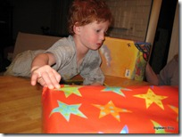 Opening presents at home