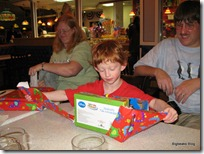 Opening presents at Farrell's