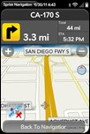 Sprint Navigation for webOS - 3D Map View