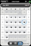 webOS Calendar - Monthly View
