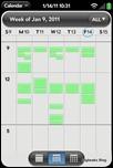 webOS Calendar - Weekly View