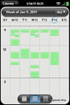 webOS Calendar - Weekly View