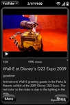 YouTube for webOS - Video description