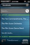 webOS Amazon MP3 Store