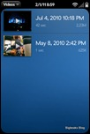 webOS Video Player - Selection List