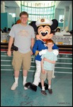 Photo with Mickey in the terminal