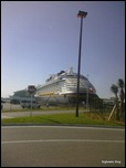 Disney Dream from the rental car shuttle